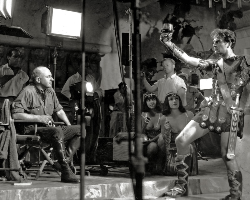 DeMille directs Henry Wilcoxon in Cleopatra (1934)