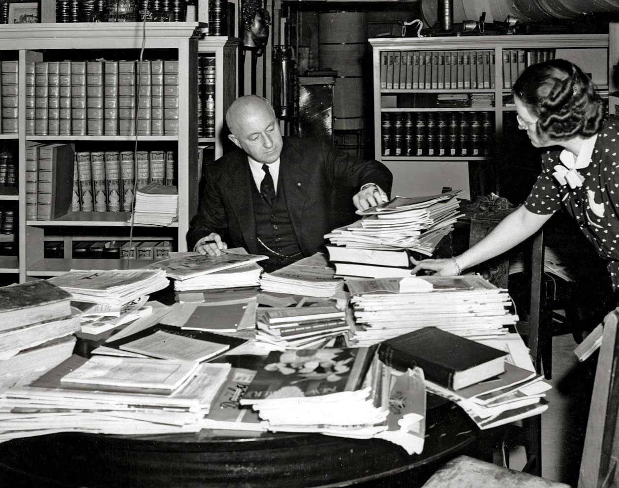 The office of Cecil B. DeMille Productions, circa 1942